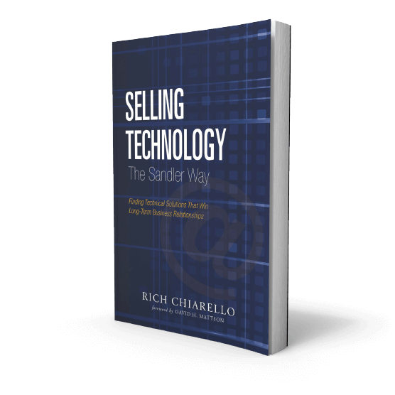 Selling Technology Services The Sandler Way Book