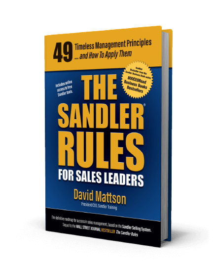 The Sandler Rules for Sales Leaders Book
